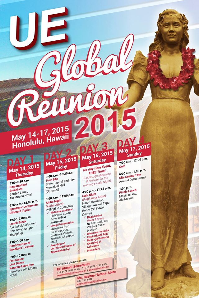 University of the East (UE) Global Reunion 2015 in Hawaii
